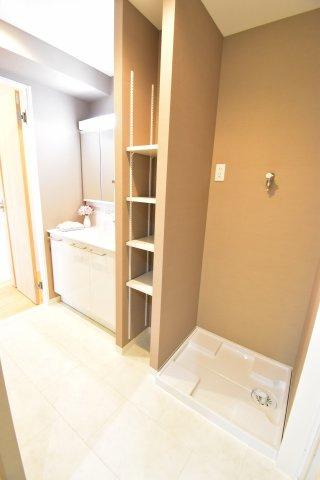 洗面所にはタオルを収納できるリネン庫を新設しました!収納を増やせるのもリノベーションの良い所です!