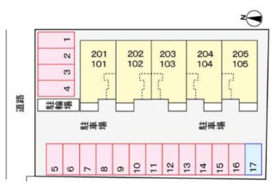 【区画図】ラブリーコート