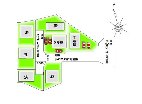 【区画図】 全7棟・カースペース2台分以上♪