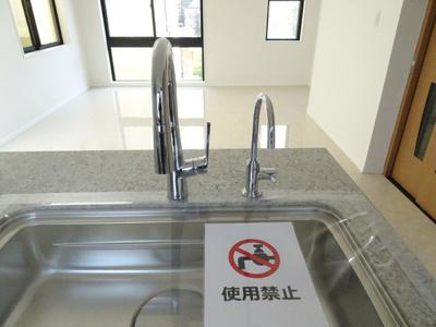 食洗器・浄水器一体型水栓付き