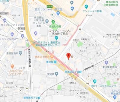 【地図】コンフォリア東池袋