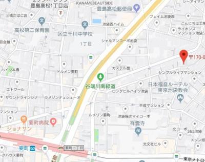 【地図】ピュール池袋