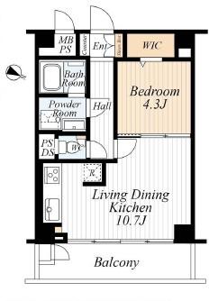 広々した1LDK。家具付きリフォーム済みのマンションです。