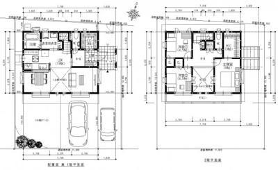 建築プラン例建物価格1,825万円