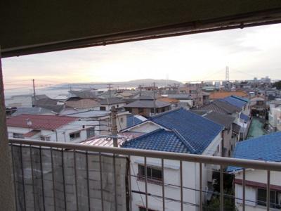 西側眺望 垂水の街を一望