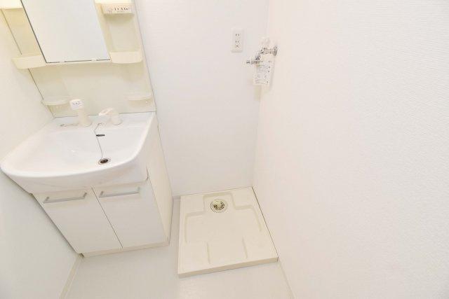 洗濯機は脱衣所に設置可能。