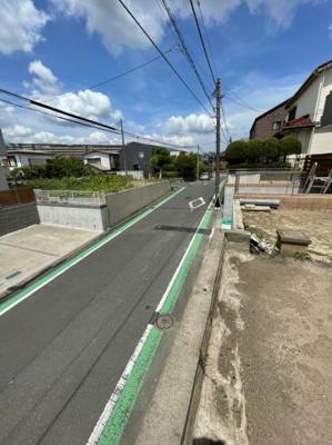 【前面道路含む現地写真】横浜市港南区芹が谷4丁目 売地 建築条件なし お好きなメーカーで建築できます♪