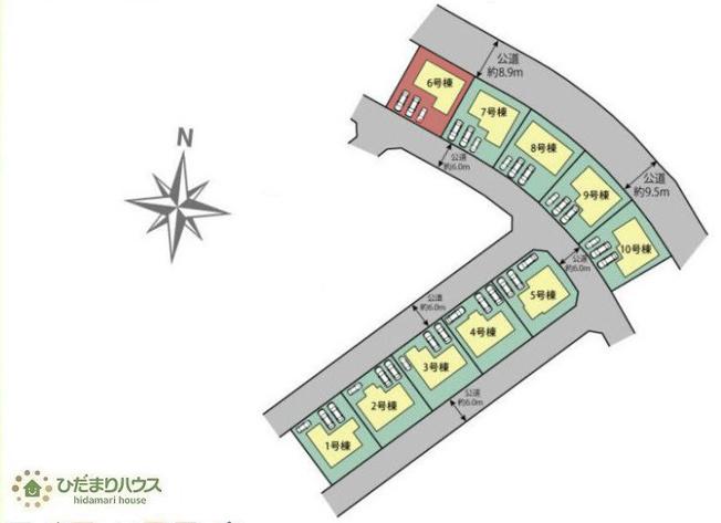 【完成予想図】つくば市並木4丁目 新築戸建 6号棟