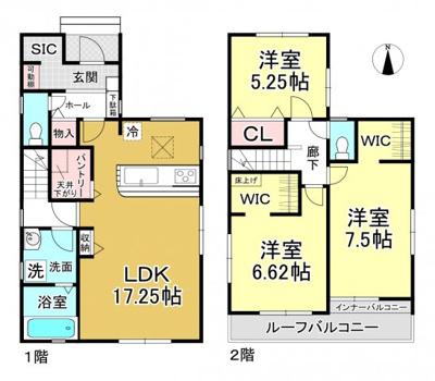 【区画図】大津市滋賀里1丁目5-21 新築分譲