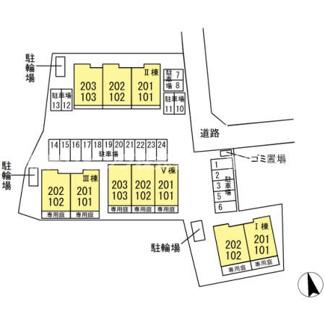 【区画図】フェリス酒井根 Ⅴ