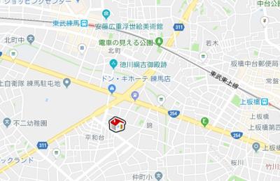 【地図】クレイノピングミチマジオ(56330-301)