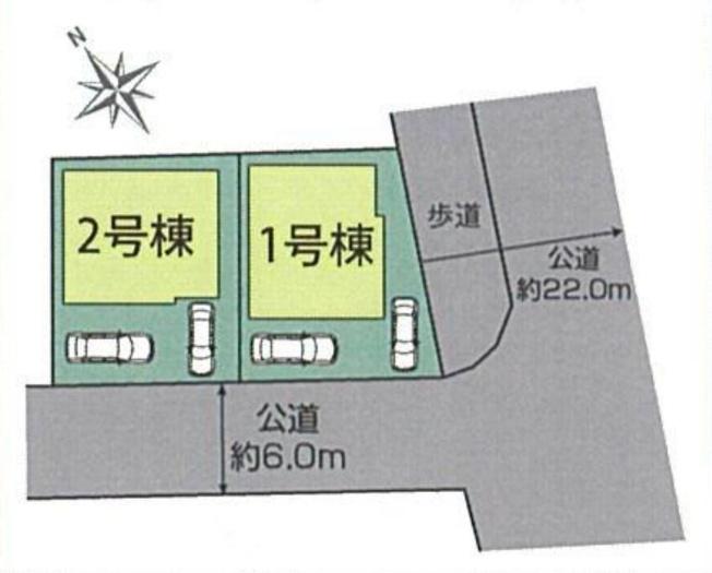 【区画図】新築 平塚市幸町 2号棟