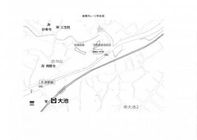 【地図】唐櫃ガレージ