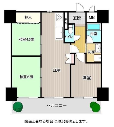 ペット相談OK♪【3LDK】鍵付勝手口から近い位置のお部屋で、正面玄関に回らずに入室可能です♪