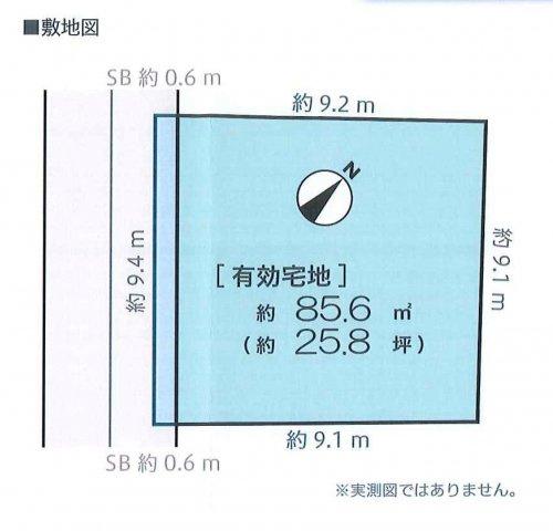 【区画図】下北沢が生活圏!世田谷区北沢4丁目 建築条件付き売地