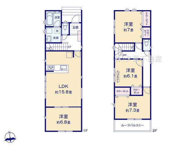【区画図】北区本郷町915-1(1号棟)新築一戸建てグランパティオ