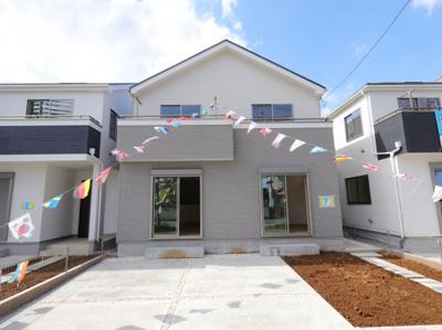 外観です:建物完成しました♪♪毎週末オープンハウス開催♪三郷新築ナビで検索♪