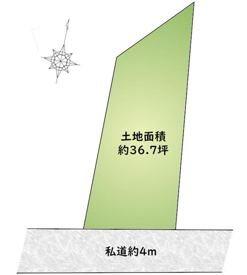 【区画図】大森駅9分!南向きの明るい土地