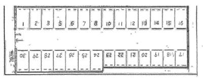 【区画図】白子2丁目駐車場Y