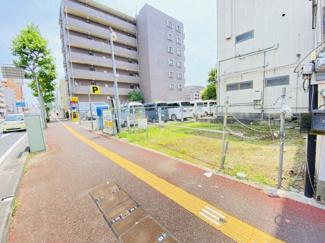 千葉市中央区要町 土地 東千葉駅 幅広い歩道もございますので、安心です!