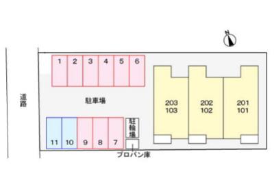 【区画図】ノッティングヒルコートF