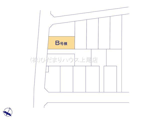 【区画図】上尾市向山 第6 新築一戸建て ハートフルタウン B