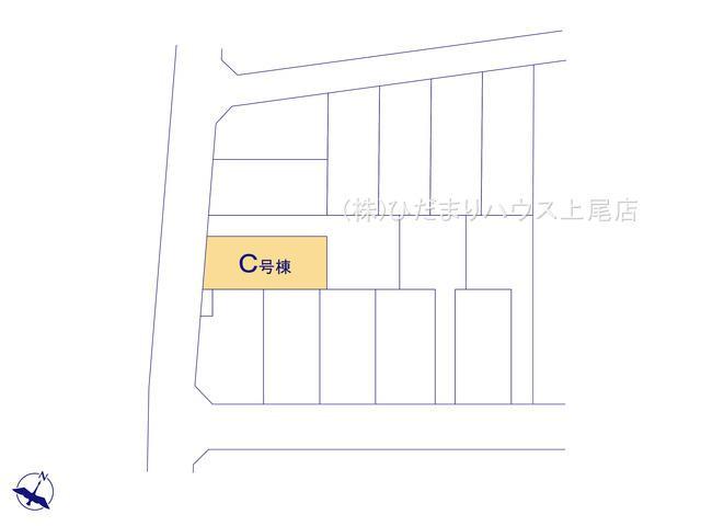 【区画図】上尾市向山 第6 新築一戸建て ハートフルタウン C