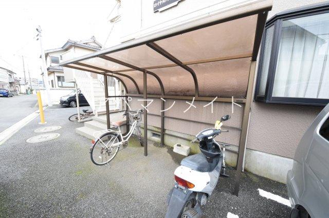 自転車置場です!