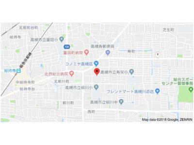 【地図】ハピネス栄町 (株)Roots