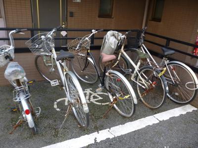 敷地内に駐輪場があります!自転車はちょっとした移動手段に便利ですよね!