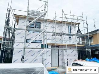 現在建築中です!(09.07 外壁工事) 弊社施工例の物件見学ができます!お気軽にお問い合わせ下さい。