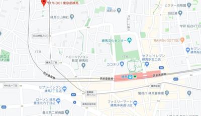 【地図】ファーレ練馬Ⅱ