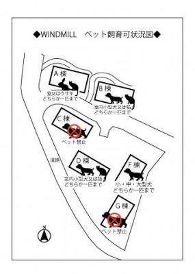 ペット飼育状況把握表※棟によりペット飼育の条件が異なりますので把握表にてご確認ください。