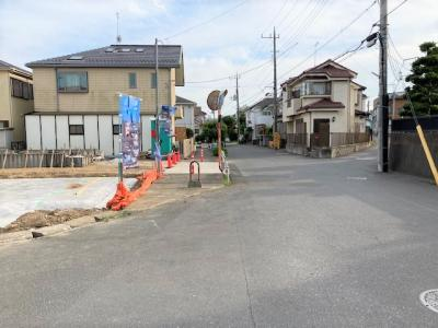 【前面道路含む現地写真】流山市美田