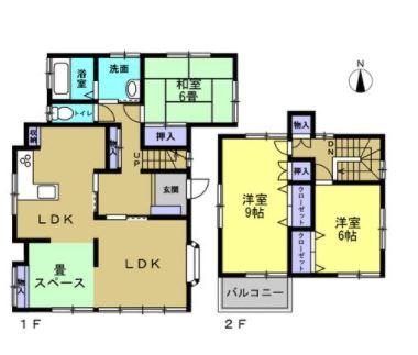 3LDK 1階は広々としたお部屋です。ご家族の憩いの場となります。
