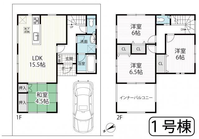 全居室収納付きゆったり4LDK☆インナーバルコニーで急な雨でも安心☆クレイドルガーデン京田辺市薪第4