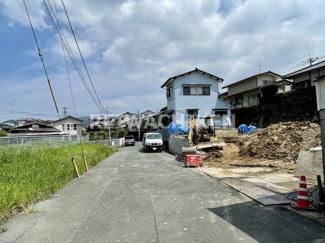 【前面道路含む現地写真】リーブルガーデン 宗像市葉山