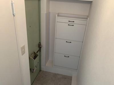 収納もある玄関です。