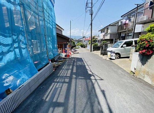 【前面道路含む現地写真】新築 海老名市大谷南4丁目 1号棟