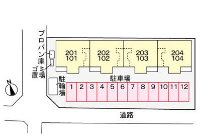 【区画図】プチネージュ