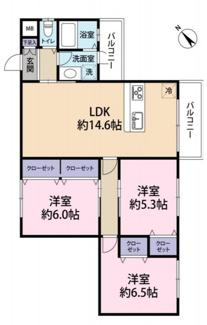 専有面積70.14平米(約21.21坪) 3LDK 1,998万円