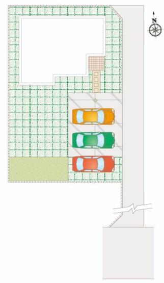 G号棟 カースペース3台以上可能です。本日、建物内覧できます(^^)/住ムパルまでお電話下さい!