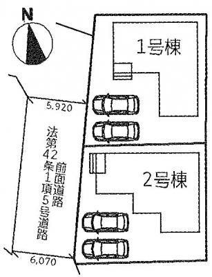 【区画図】千町1丁目 20-1期 全2棟 1号棟