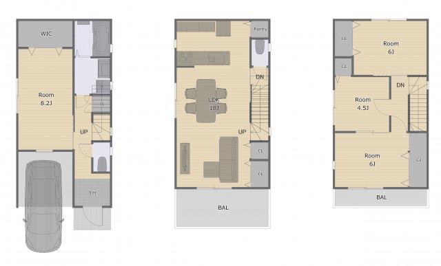 家族の集まる憩いの空間、リビングを広く設計しました! 広々18帖ございます♪