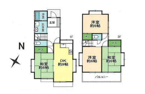 土地面積100.10平米、建物面積81.57平米~ゆとりの4DK