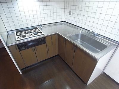 【キッチン】ライオンズマンション生田川東