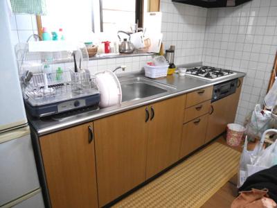 【キッチン】津山市押入 中古住宅 3DK+離れ