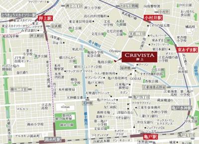 【地図】クレヴィスタ押上