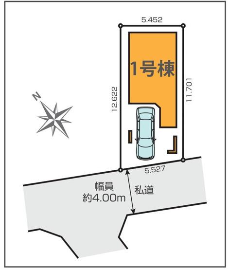 【区画図】仲介手数料無料 練馬区東大泉2丁目 新築一戸建て