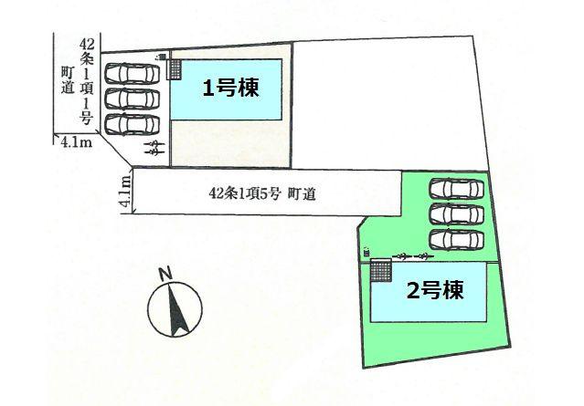 【区画図】新築 玉村町板井ID201-2